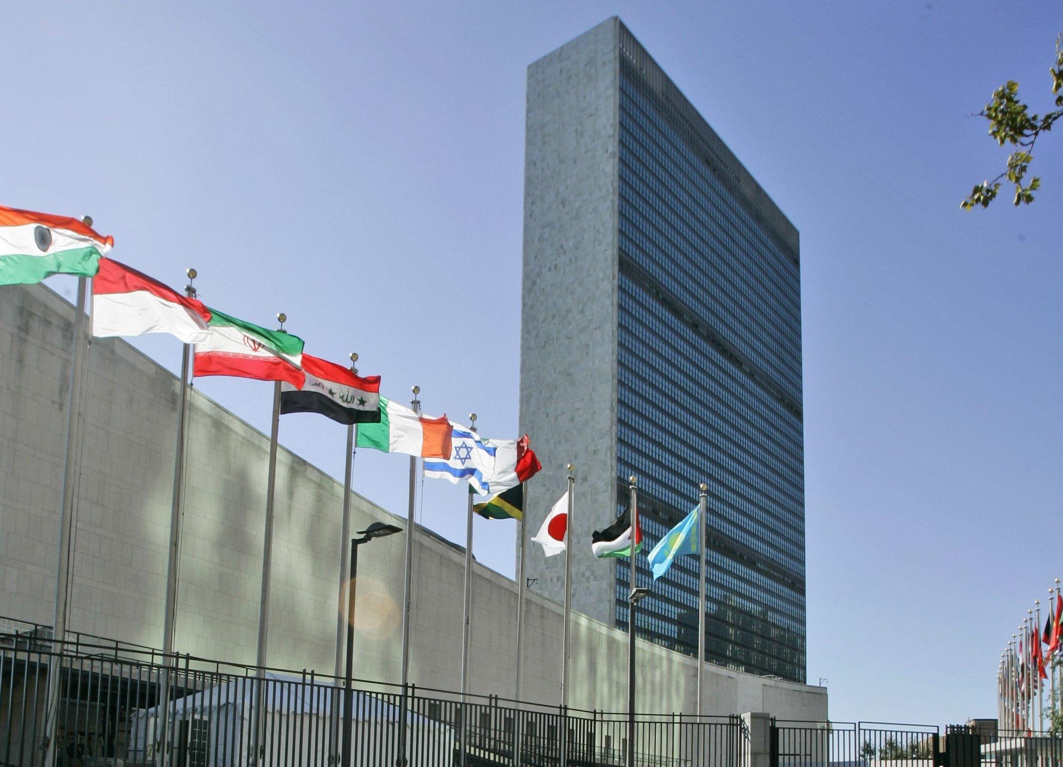 Palazzo ONU NY Bandiere