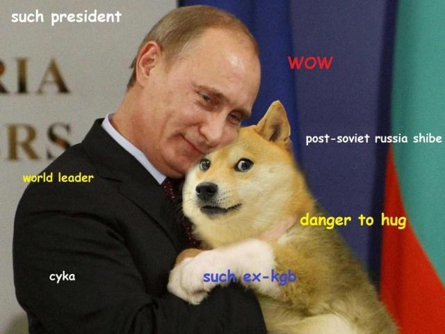 Esempio di un meme satirico nei confronti del Presidente Putin