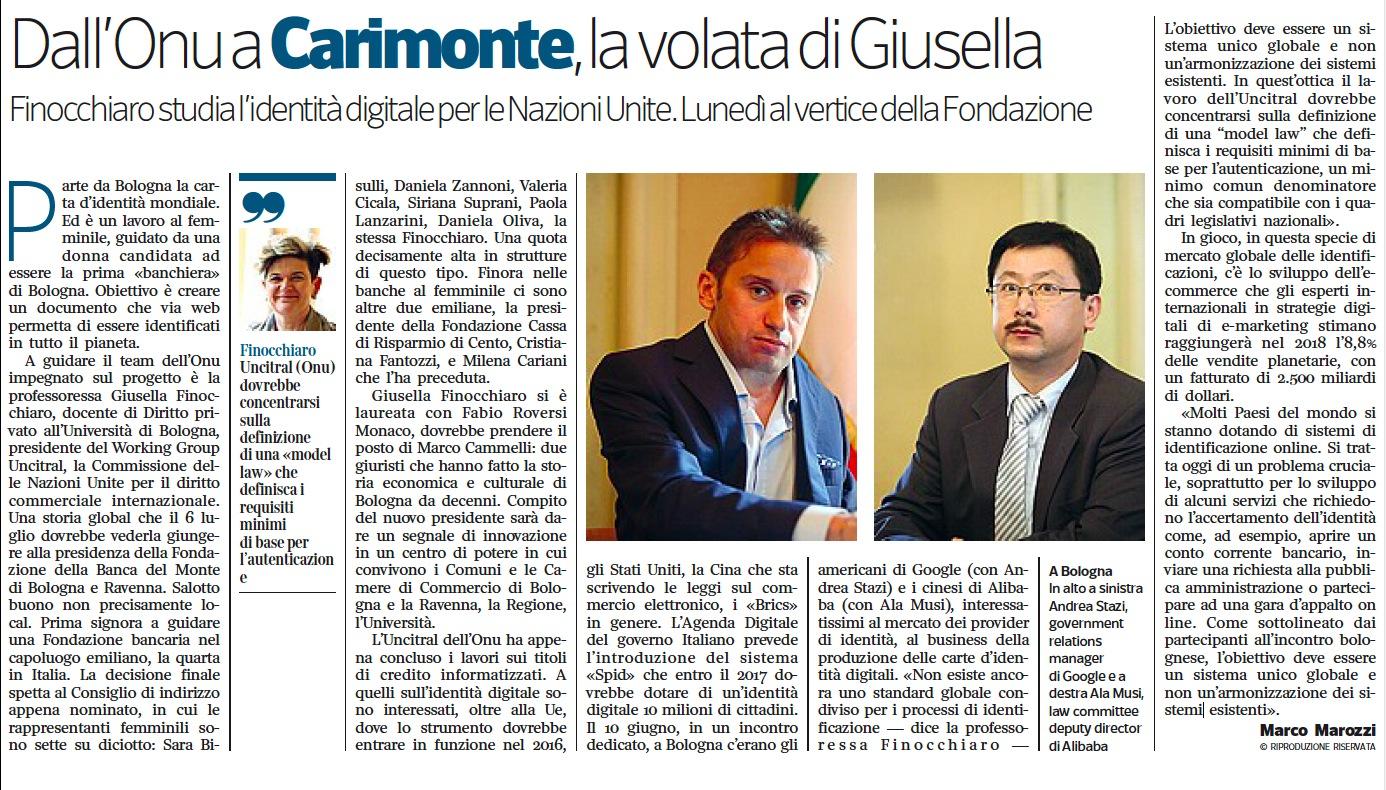 29 giugno 2015 - Corriere Imprese